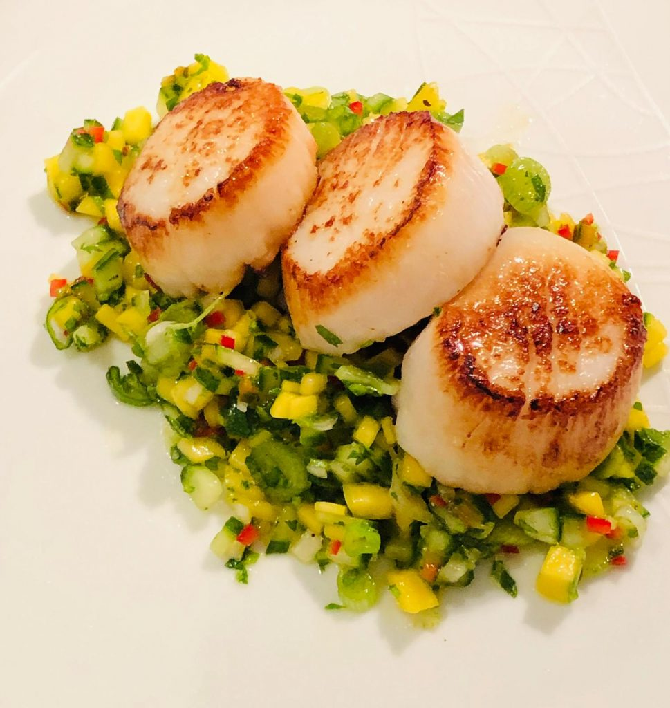 Valentine's Day seafood starter course