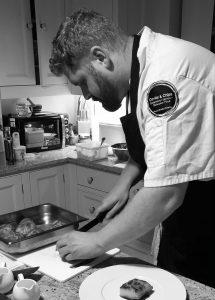 Head Chef Mike Scott creating a seasonal wedding menu